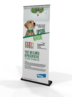 Credelio FPPL Upsidedown Pull Up Banner Stand