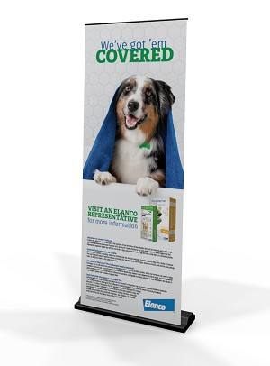 Credelio FPPL Pull Up Banner Stand