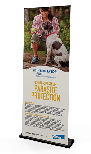 Interceptor Plus Parasite Protection  USCACINP00284  Pull Up Banner Stand