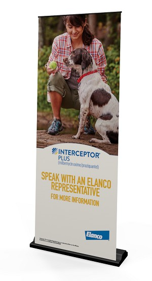 Interceptor Plus USCACINP00285  Pull Up Banner Stand