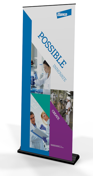 Manufacturing Recruiting Pull Up Banner Stand
