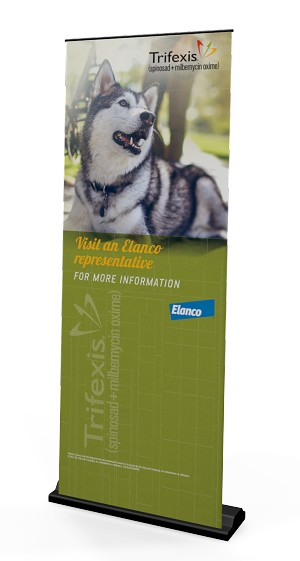 Trifexis Pull Up Banner Stand Canine